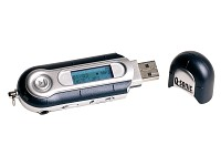 Q-Sonic Mini-USB-MP3-Player/Voice-Recorder LCD-MP3 128 MB