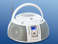 Q-Sonic Tragbare HiFi-Anlage mit USB-MP3-Player (CD, Radio)