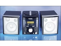 "Q-Sonic MP3/CD/FM Mini-Anlage ""Black Velvet"" mit USB/SD/MMC"