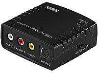 Q-Sonic USB-Video-Grabber VG310 zum Video-Digitalisieren (refurbished); Audio-Digitalisierer